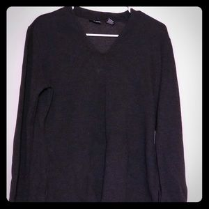 NY&CO CASHMERE LONG SLEEVE V NECK SHIRT